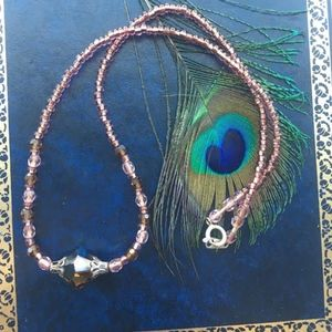 "Jewelry - 308: ""Mink"" Crystal Necklace"